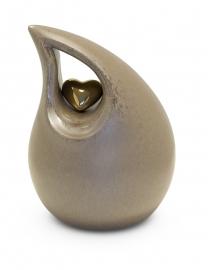 Urn druppel met hartje KU006 M