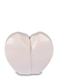 urn hartvorm wit, 1L