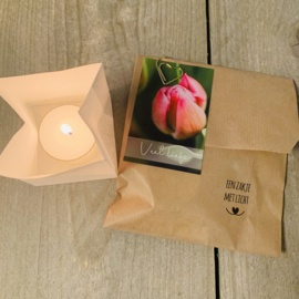 Candle bag -Veel liefs-   , zakje met licht