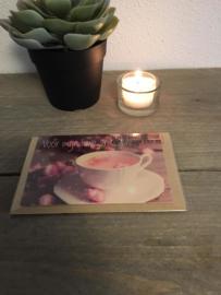 Kaart met thee 06 'Voor mijn lieve vriendin'