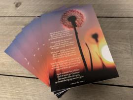 Notitieblok a5 met gedicht Jan vd Meer