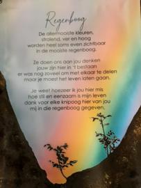 Tuinposter 50x65 cm, Regenboog