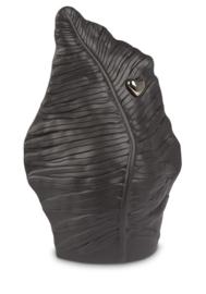 Urn zwart blad met zilver hart - 3,8L