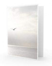 Vogel grijze lucht - dankbetuigingkaart