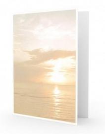 Ondergaande zon - dankbetuigingkaart
