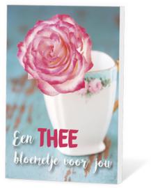 Kaart met thee 10 'Een thee bloemetje voor jou'