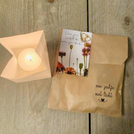 Candle bag -omdat ik aan je denk-  , zakje met licht
