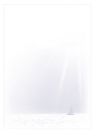 Zeilboot en zonnestralen - dankbetuigingkaart