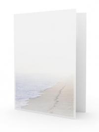 Voetstappen in het zand - dankbetuigingkaart