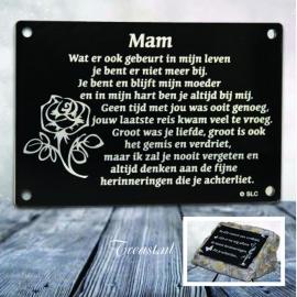 gedenksteen - Mam