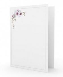 Orchidee linksboven - dankbetuigingkaart