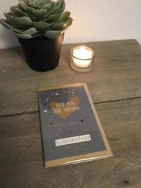 Kaart met thee 01 'Voor mijn lieve vriendin, een kopje bloementhee voor jou'