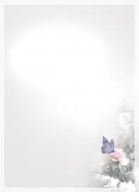 Vlinder en bloemen - dankbetuigingkaart