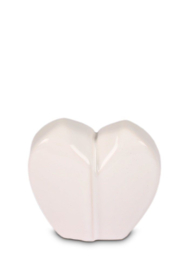 urn hartvorm wit, 40ml