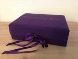 Memory box paars