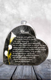 In memoriam hart mini urn: Mam