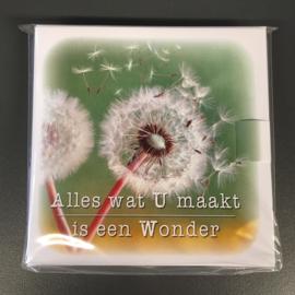 Alles wat U maakt is een Wonder