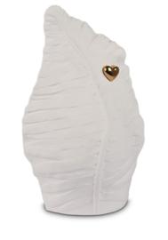 Urn wit blad met gouden hart - 3,8L