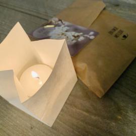 Candle bag -Voor jou-  , zakje met licht
