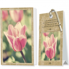 Kaart met geurzakje Tulp