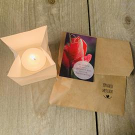 Candle bag -In iedere traan- , zakje met licht