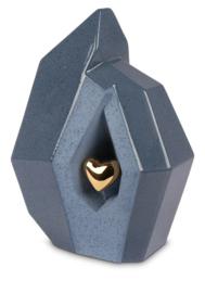 urn Blauw met gouden hart - 3,8L