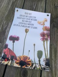 """Tuinposter """"Houd vast"""". 30x45 cm"""