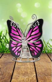 vlinder waxinelichthouder  art. 244