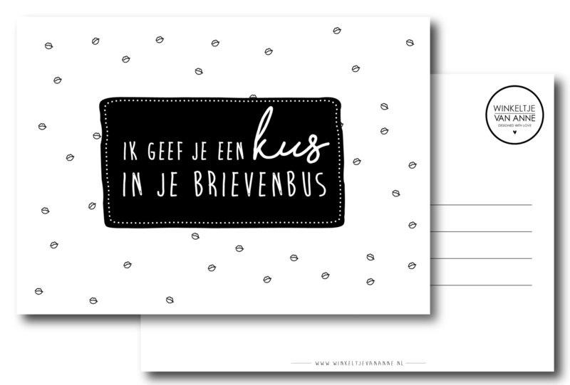 Ik geef je een kus in je brievenbus