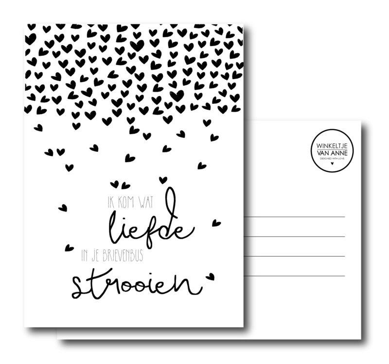 Ik kom wat liefde in je brievenbus strooien!