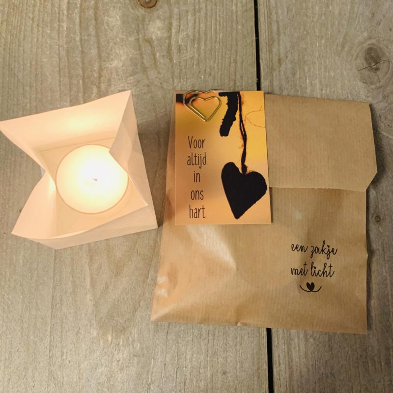 Candle bag -Voor altijd-   , zakje met licht