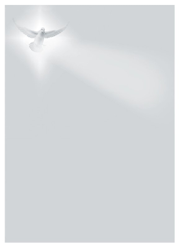 Duif in licht - dankbetuigingkaart