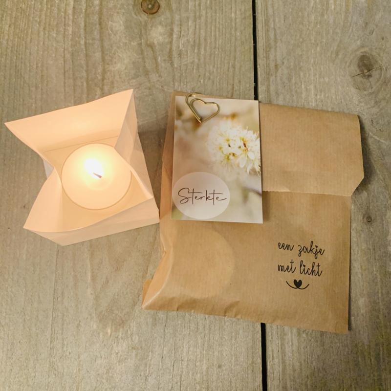 Candle bag -Sterkte- , zakje met licht