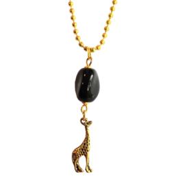 Giraffe ketting goudkleurig