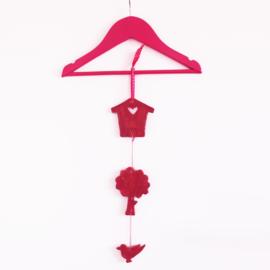 Vogelhuisje boompje beestje hanger