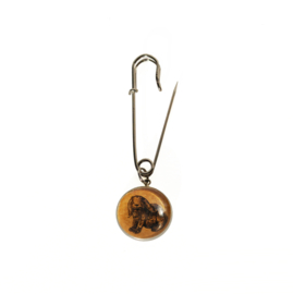 Broche Animal style konijn