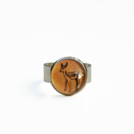 Ring  Animal style baby hert, S