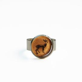 Ring  Animal style hert gewei, S