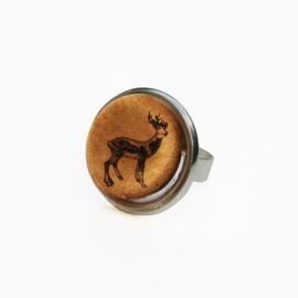 Ring  Animal style hert gewei, L