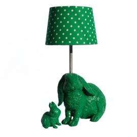 Lamp zittend konijn fuchsia