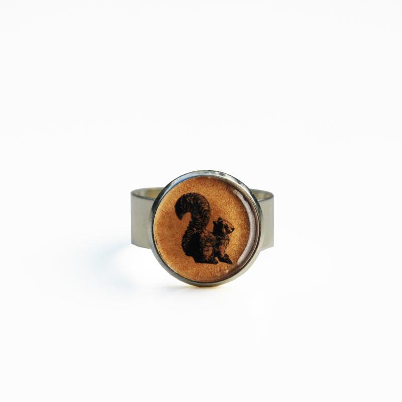 Ring  Animal style eekhoorn, S