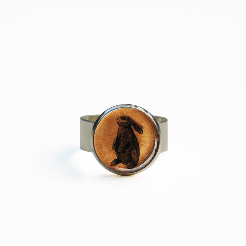 Ring staand konijn Animal style