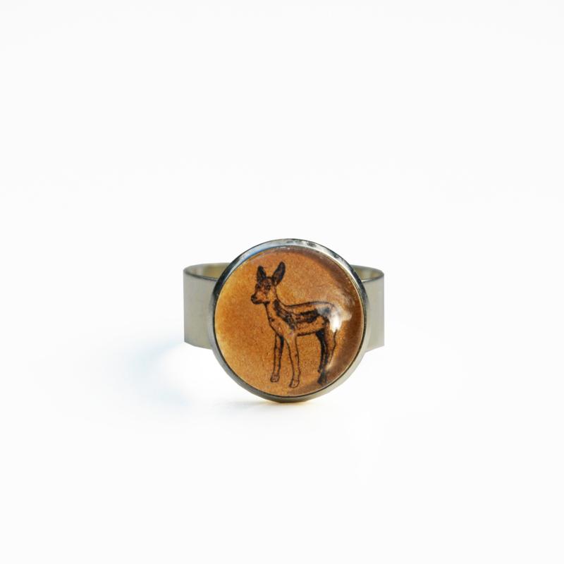 Ring  Animal style baby hert, S