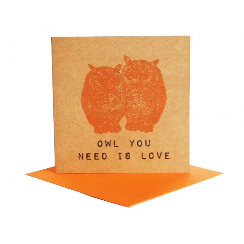 Kaart uilen duo oranje