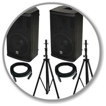 Spraak set  is een volwaardige set geschikt voor een toespraak  met accu