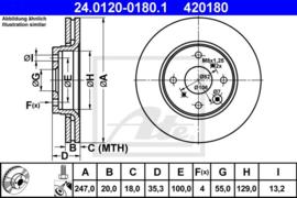 Remschijven Set (Vooras) Peugeot 107 OEM 424994 - € 34,95