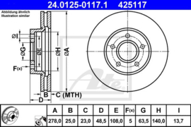 Remschijven  set Ford C-Max/ Focus II/Focus II Wagon/Focus II C+C/Focus C-Max/Volvo C30/C70/S40/V50
