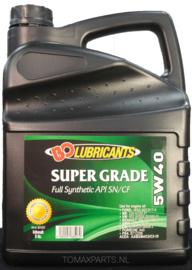 BO Motor-Oil  5W40 Super Grade  Full Synthetic API SN/CF 5 liter