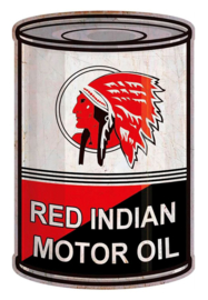 Metal sign Red Indian Barrel