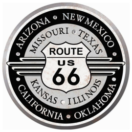 Metal sign States of Route 66